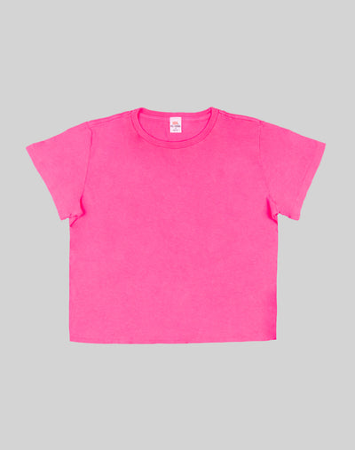 Heritage Cotton Classic Tee - Neon Pink