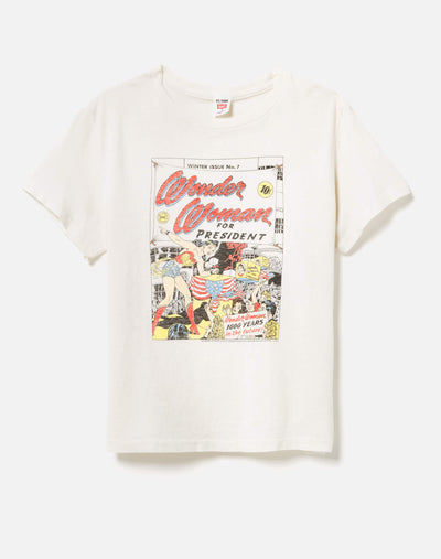 "Classic ""Wonder Woman for President"" Tee - Vintage White"