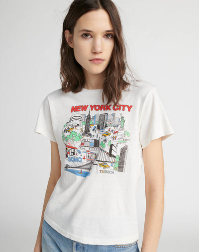 "The Classic ""New York City"" Tee - Vintage White"