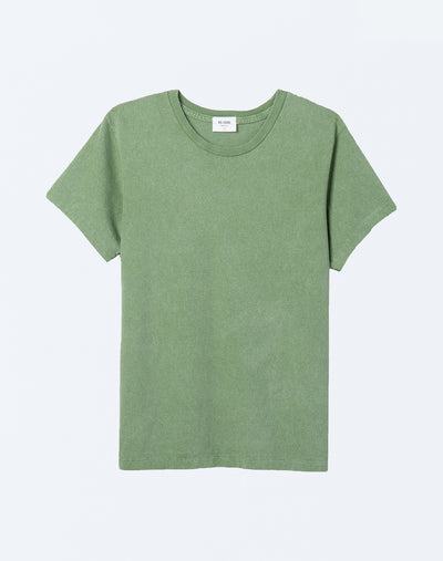 70s Recycled Loose Tee - Natural Green