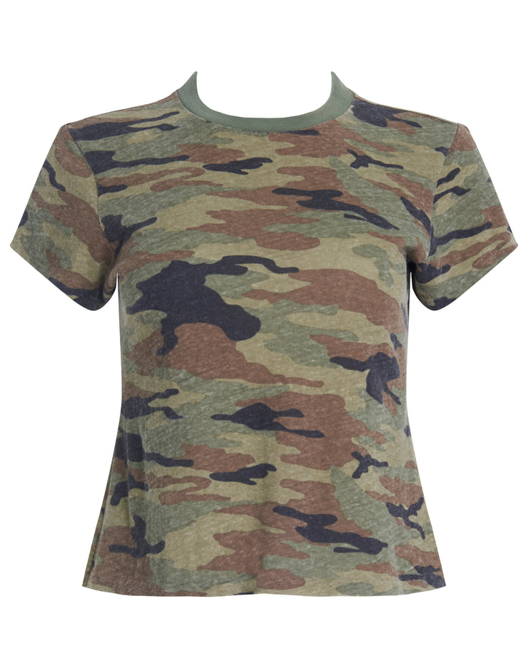 Heritage Cotton 1960s Slim Tee - Camo