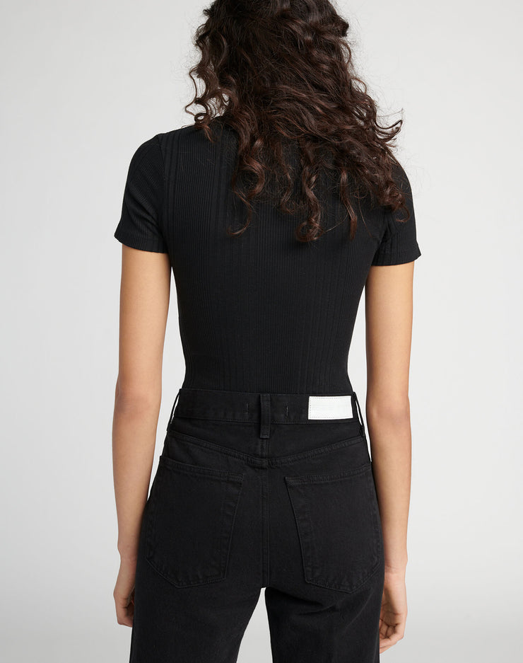 Henley Bodysuit - Black