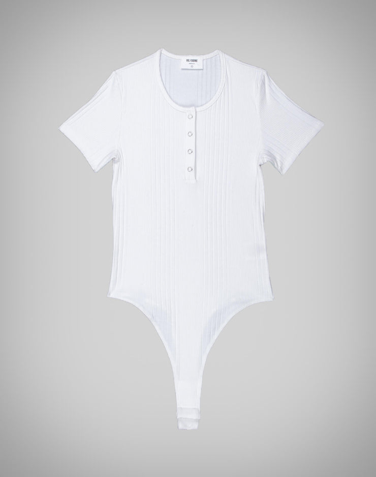 Henley Bodysuit - Optic White