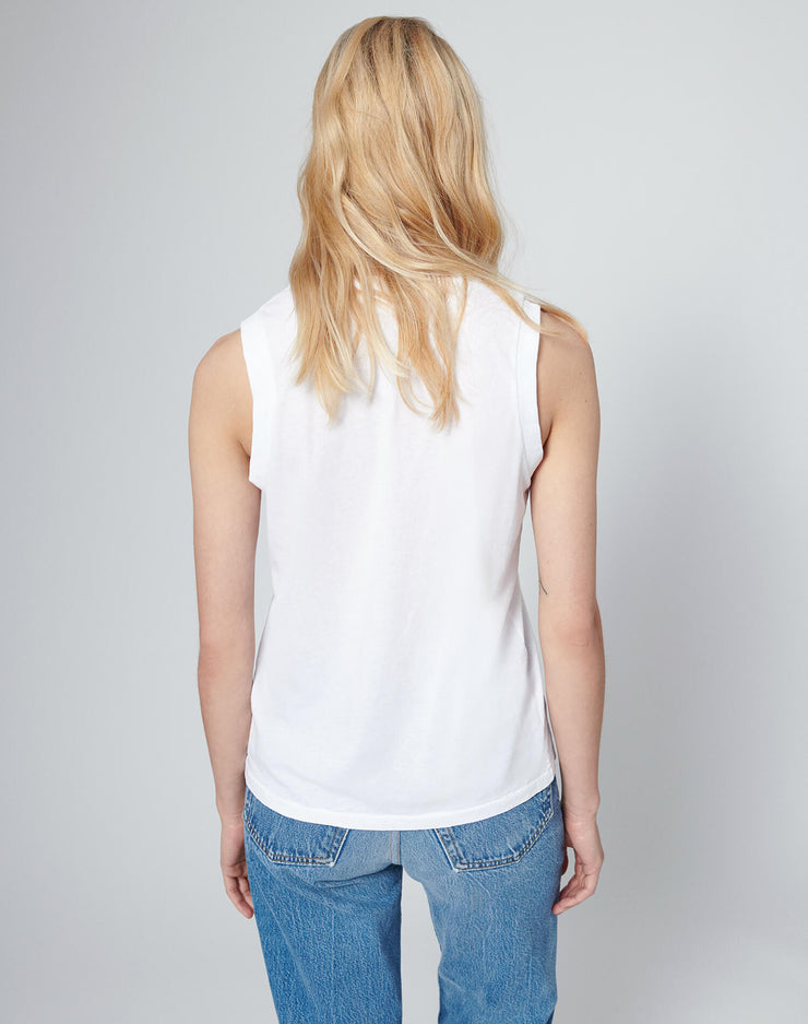 Modern 70s Long Muscle Tee - White