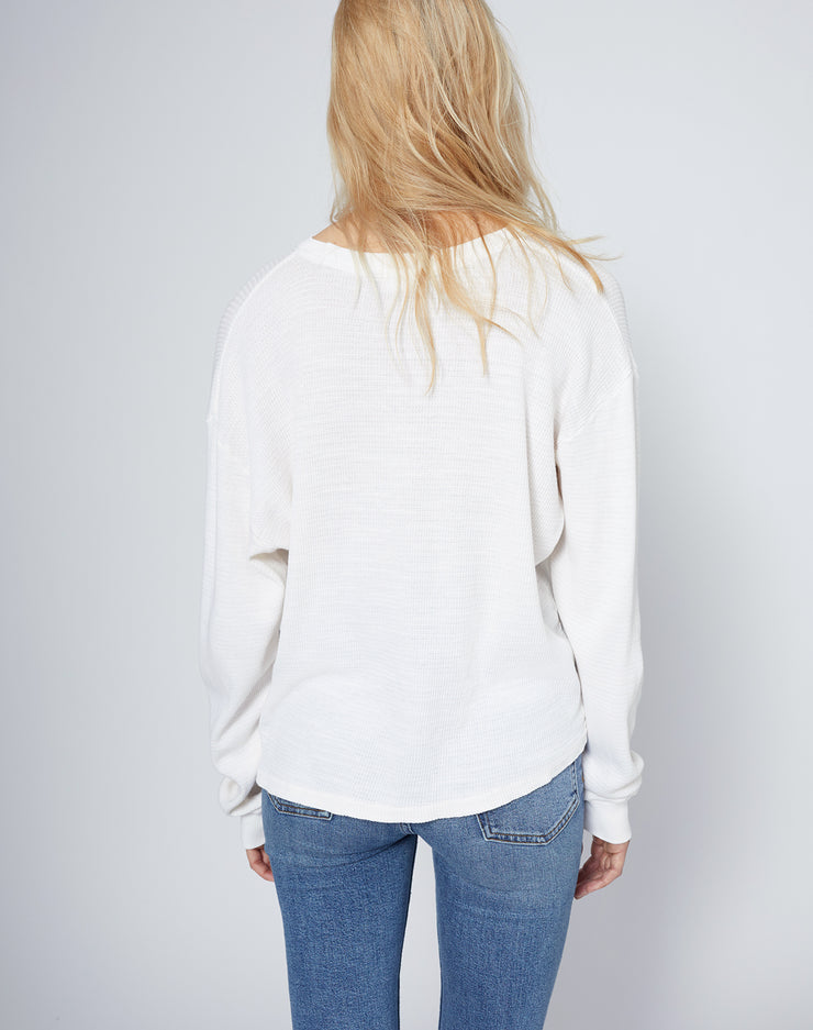 Thermal Long Sleeve Tee - Vintage White