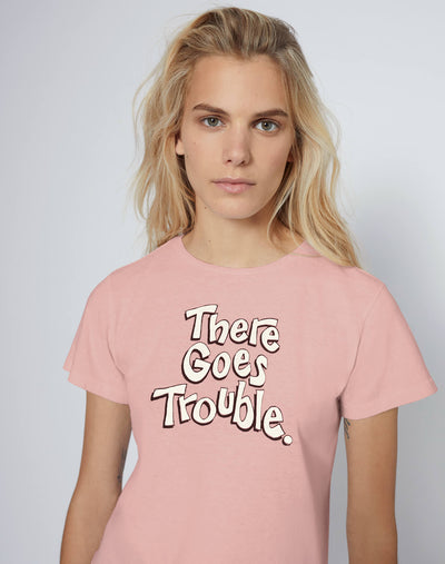 "Classic Tee ""There Goes Trouble"" - Blush"