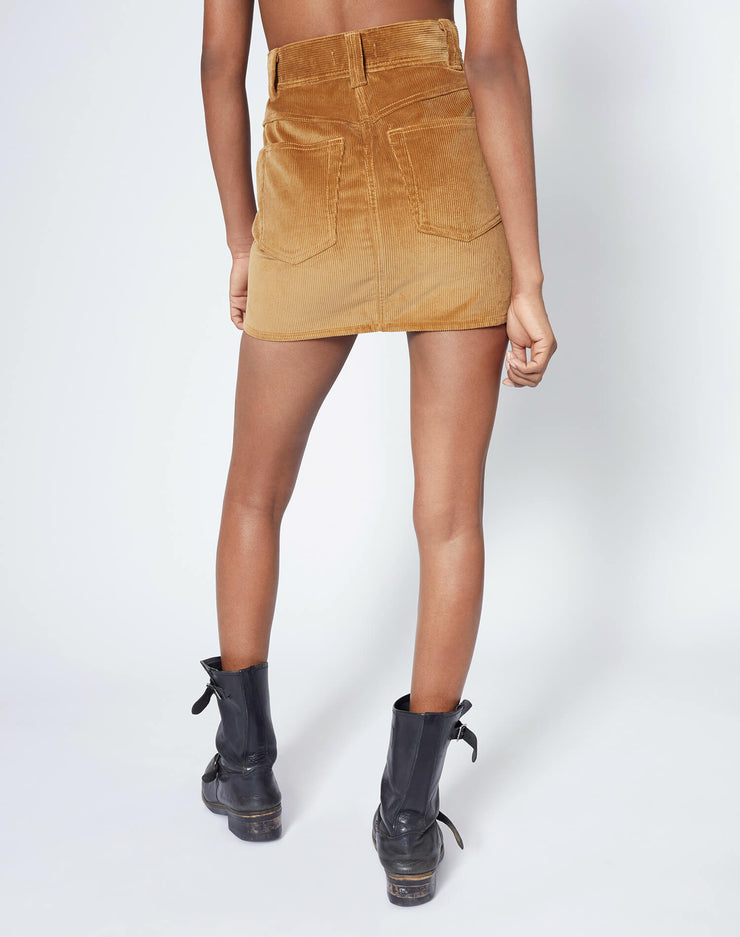 Ultra High Rise Western Pocket Skirt - Camel