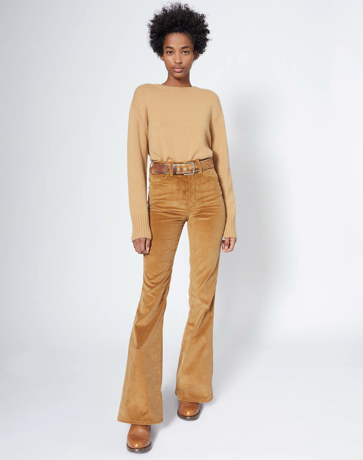 70s Ultra High Rise Bell Bottom - Camel
