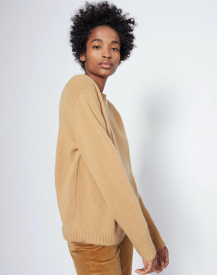 40s Crewneck Sweater - Camel