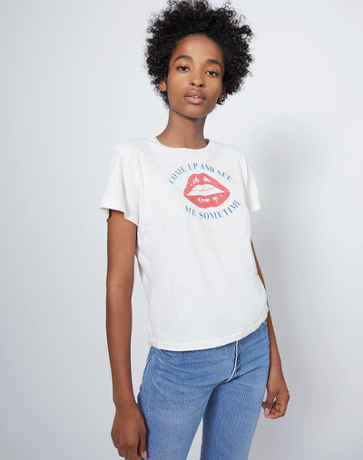 "The Classic ""Come See Me Sometime"" Tee - Vintage White"