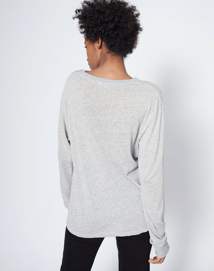 90s Long Sleeve Tee - Heather Grey