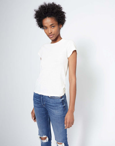 Heritage Cotton 1960s Slim Tee - Vintage White