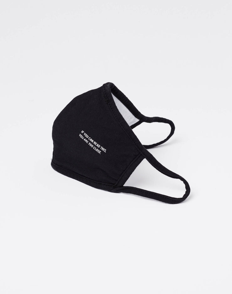 "Jersey ""Too Close"" Mask - Black"