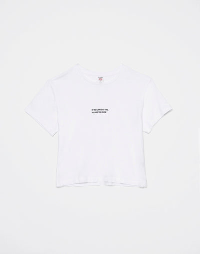 "Boxy ""Too Close"" Tee - Optic White"