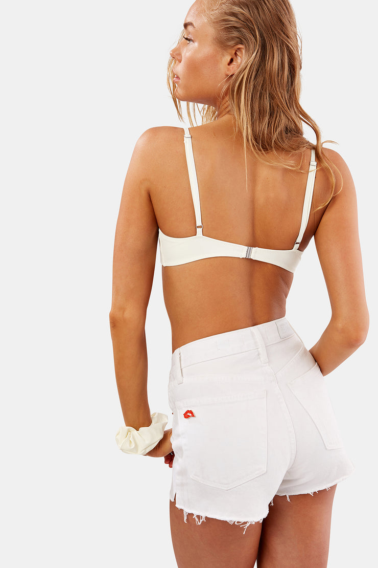 The Hollywood High Waisted Short - Dirty White