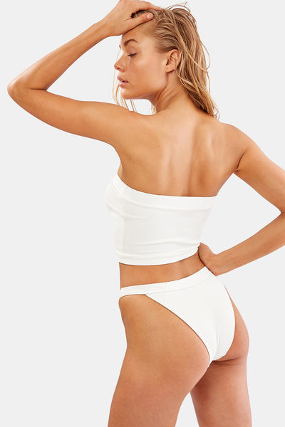 The Venice Bikini Bottom - Ivory Rib