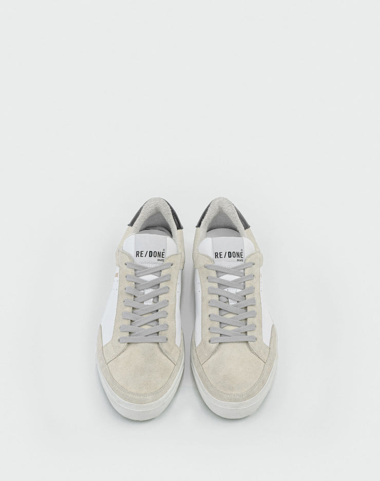 90s Skate Shoe - White and Marble
