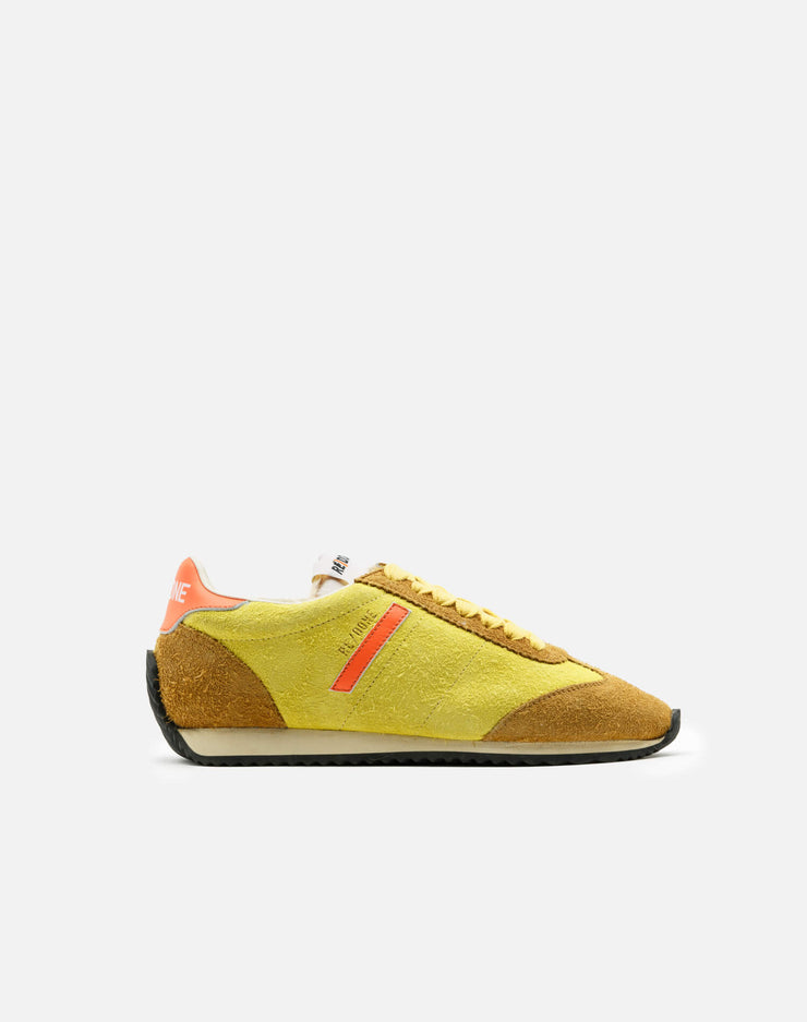 70s Runner Shoe - Lemon and Tan and Orange Suede