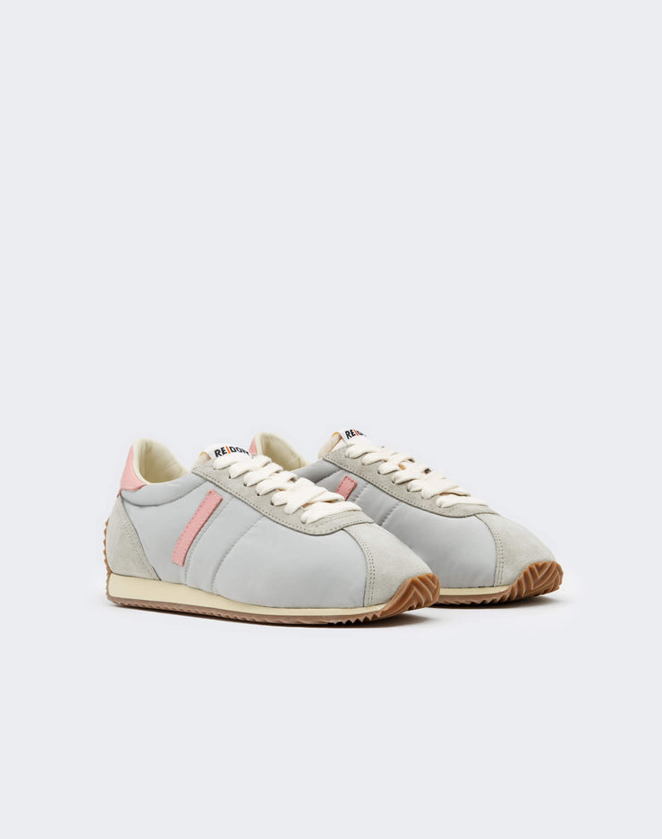 70s Runner Shoe - Light Grey and Pink