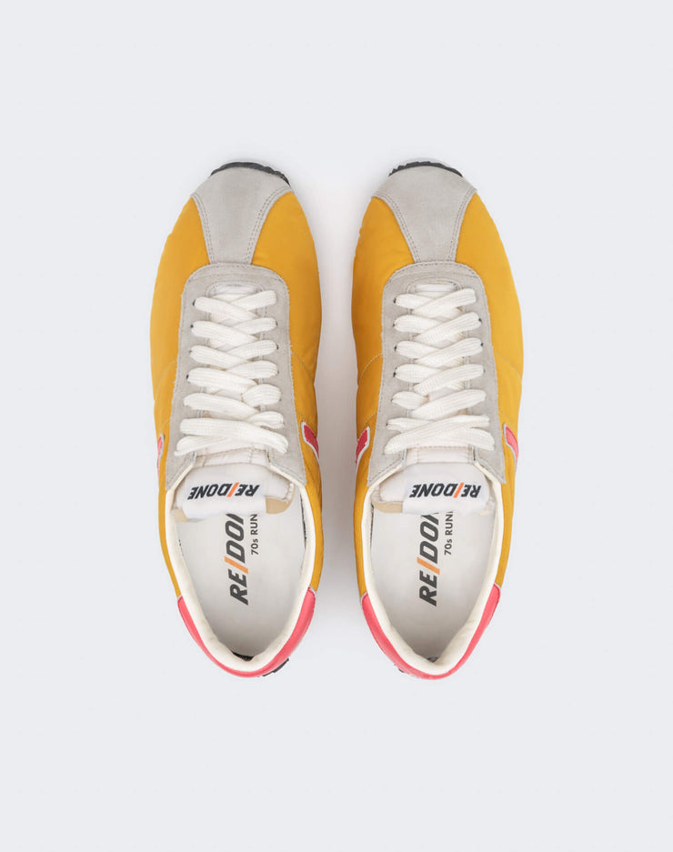70s Runner Shoe - Yellow and Red