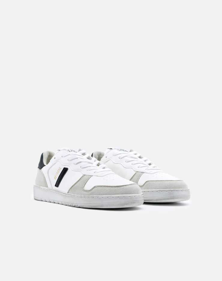 80s Sustainable Basketball Shoe - White and Black