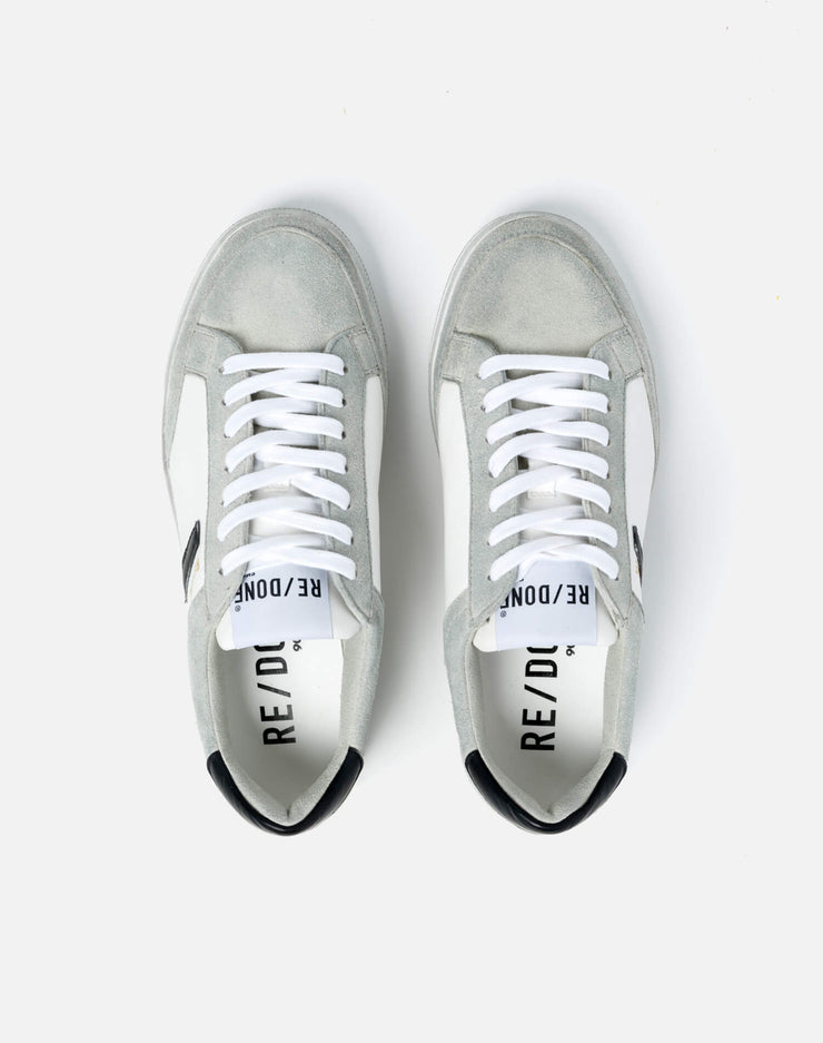 90s Sustainable Skate Shoe - White and Black