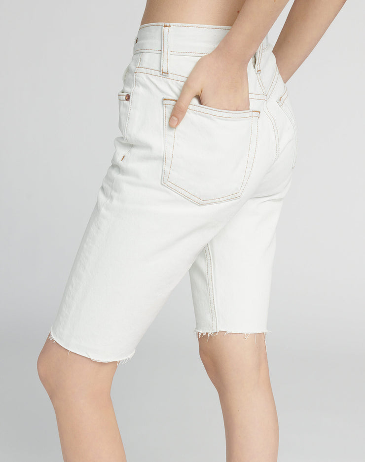 80s Long Short - Bleached White