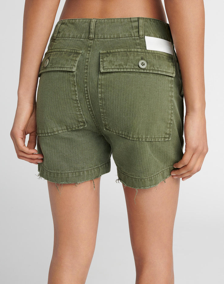50s Military Short - Olive