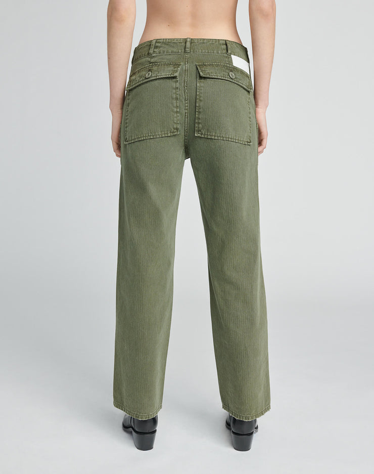 50s Military Trouser - Olive