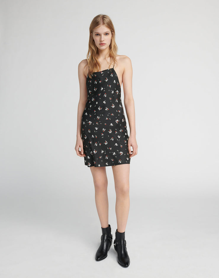 90s Short Slip Dress - Floral Print