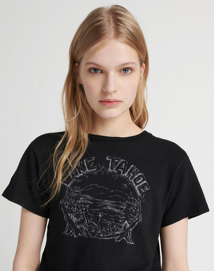 "Classic Tee ""Lake Tahoe"" - Washed Black"