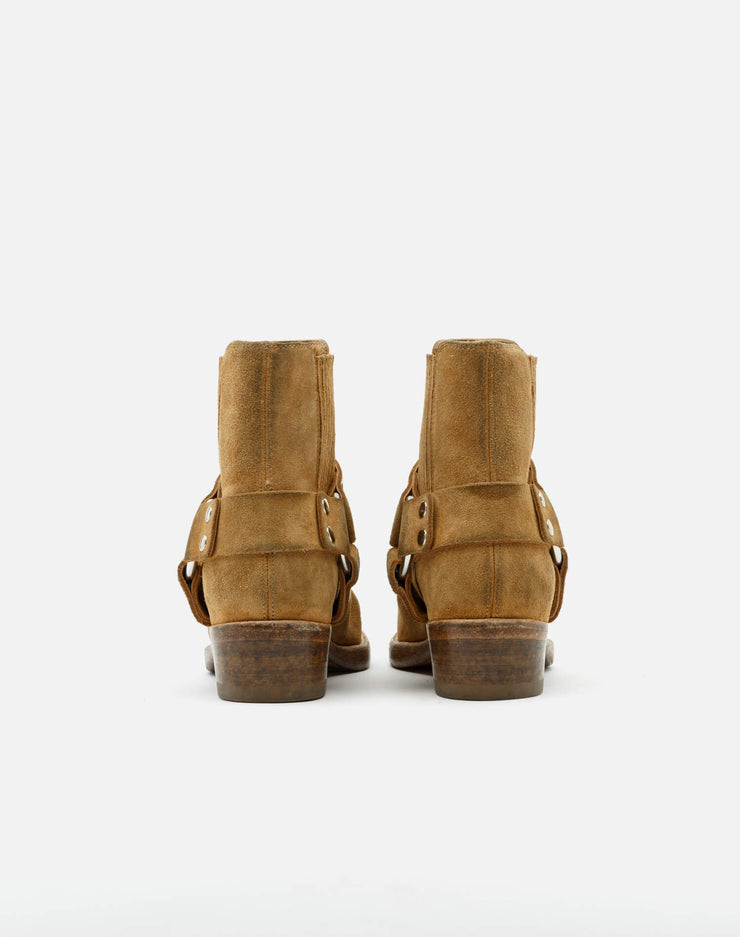 Short Cavalry Boot - Worn Tan Suede
