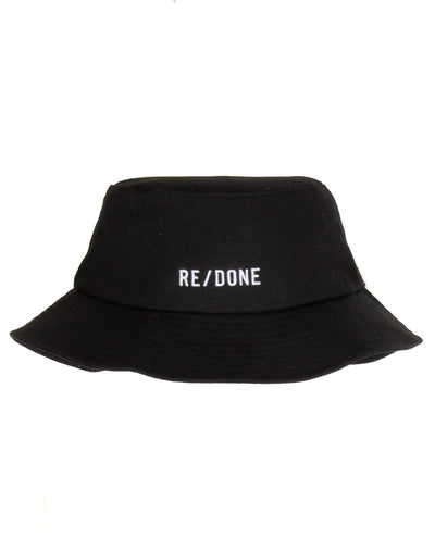 "Bucket Hat ""REDONE"" Logo - Black"