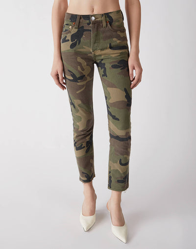 Stretch High Rise Ankle Crop | Camo | 113-3WHRAC | 1