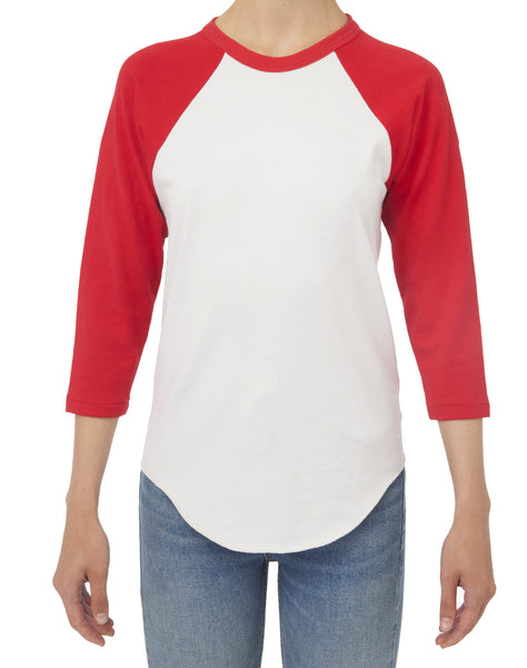 The Baseball Tee - White And Red