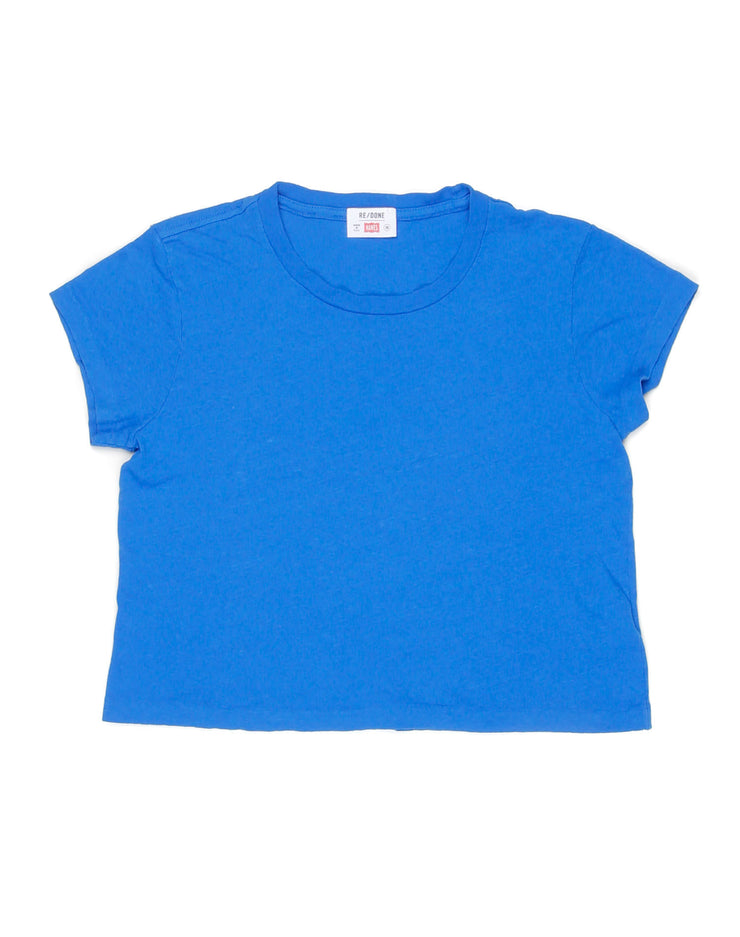 The 1950s Boxy Tee - Bright Blue
