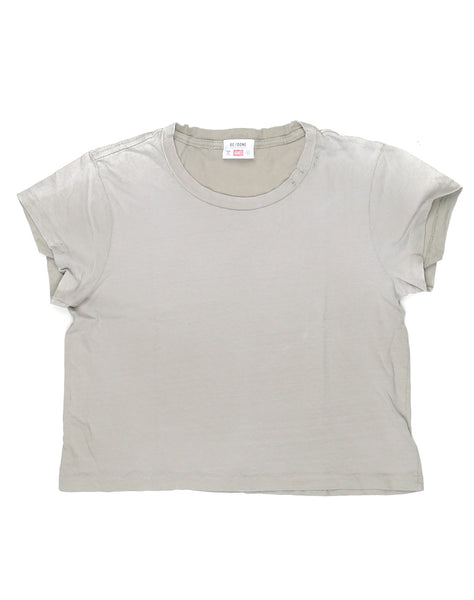 The 1950s Boxy Tee - Faded Sand
