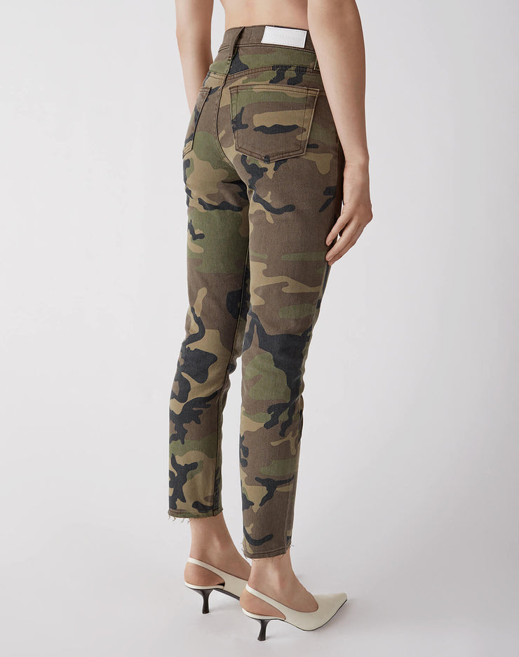 Stretch High Rise Ankle Crop | Camo | 113-3WHRAC | 2