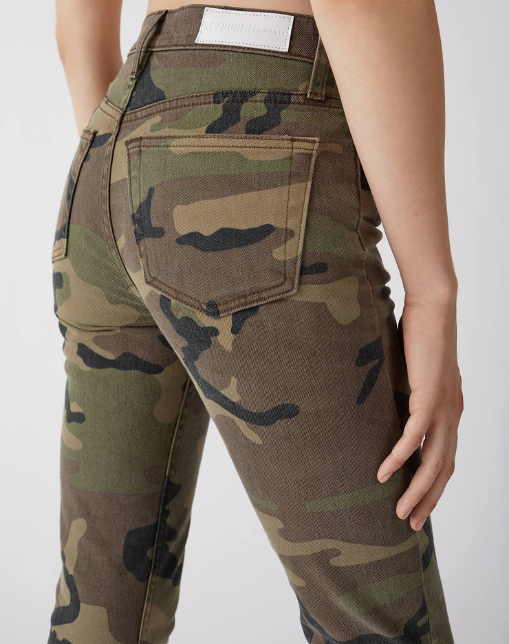 Stretch High Rise Ankle Crop | Camo | 113-3WHRAC | 4