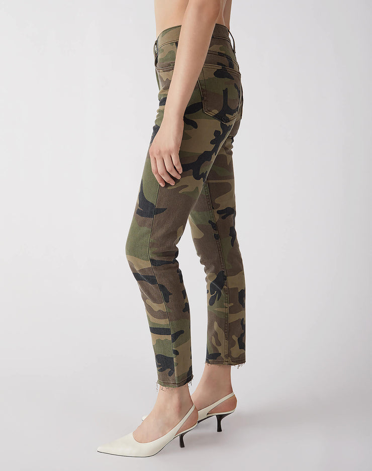 Stretch High Rise Ankle Crop | Camo | 113-3WHRAC | 3
