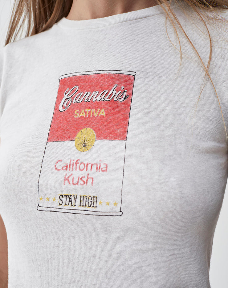 "The Classic ""Canned Cannabis"" Tee - Vintage White"