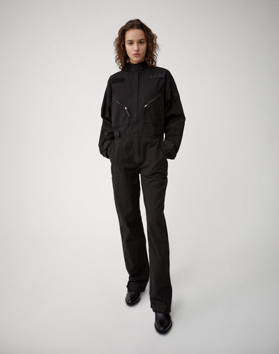 Cargo Coverall - Washed Black