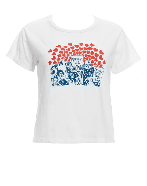 Women of the World Graphic Tee - Vintage White