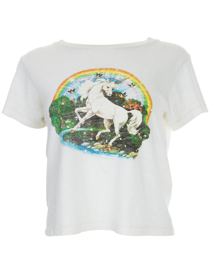 Unicorn Dream Graphic Tee - Vintage White