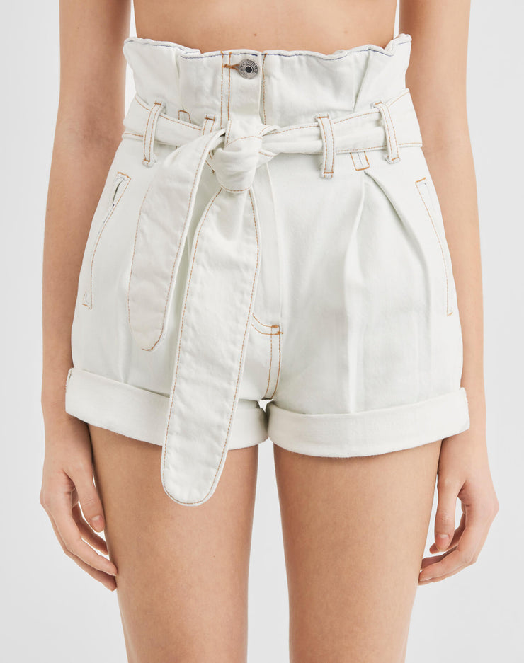 Pleated 80s High Rise Short - Light 01