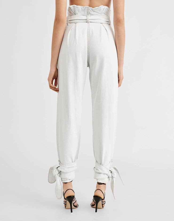 Pleated 80s High Rise Pant - Light 01