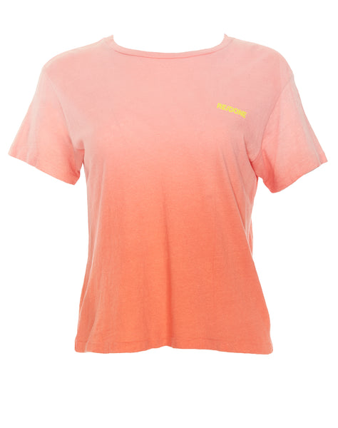 Mini Logo Graphic Tee - Pink/Orange Gradient
