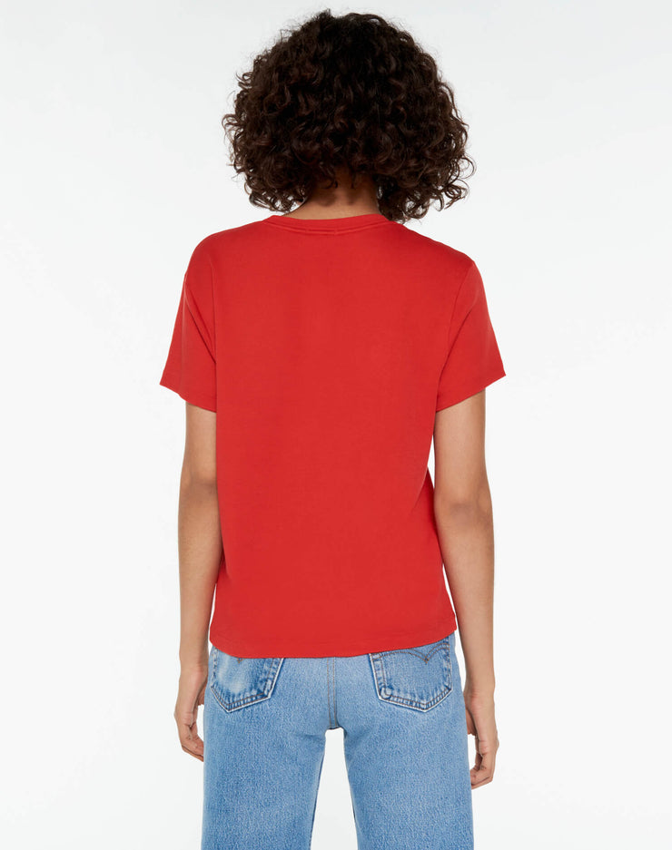 70s Loose Butter Soft Tee - Red Orange