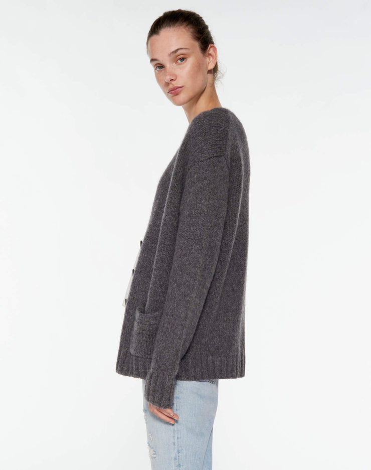 90s Cardigan - Charcoal