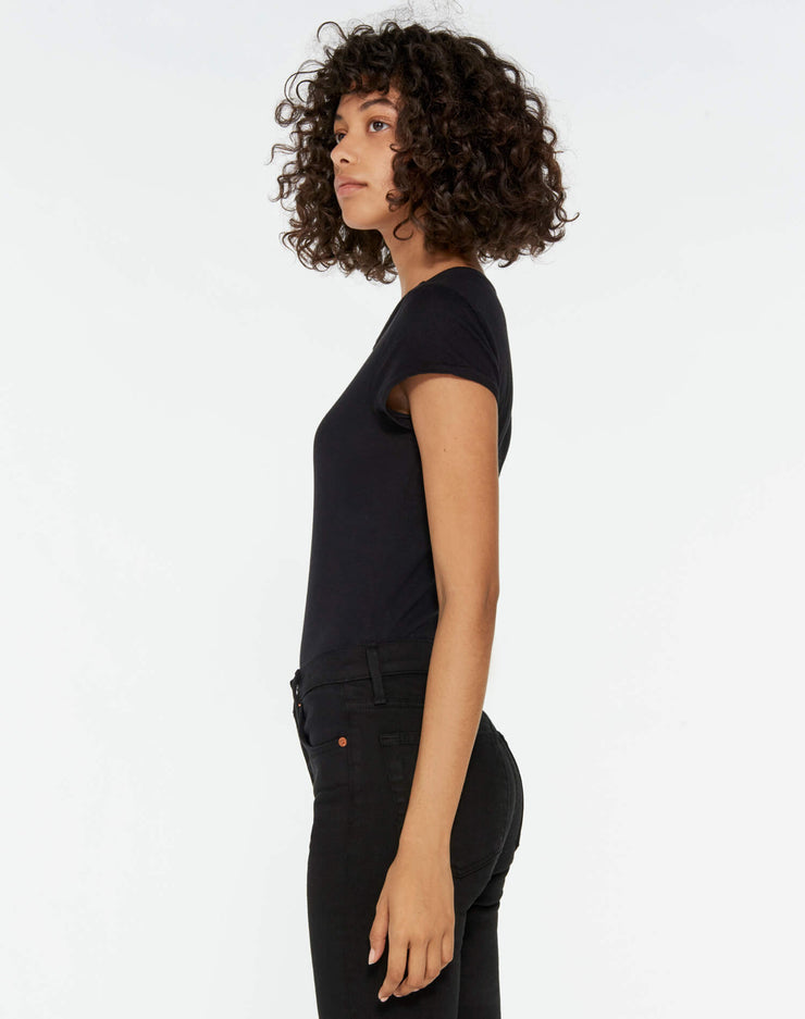 Heritage Cotton 1960's Slim Tee Bodysuit - Black